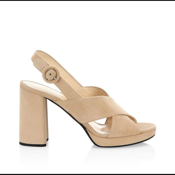 8b165a66b6ec New Prada Suede Ankle Strap Platform Sandals